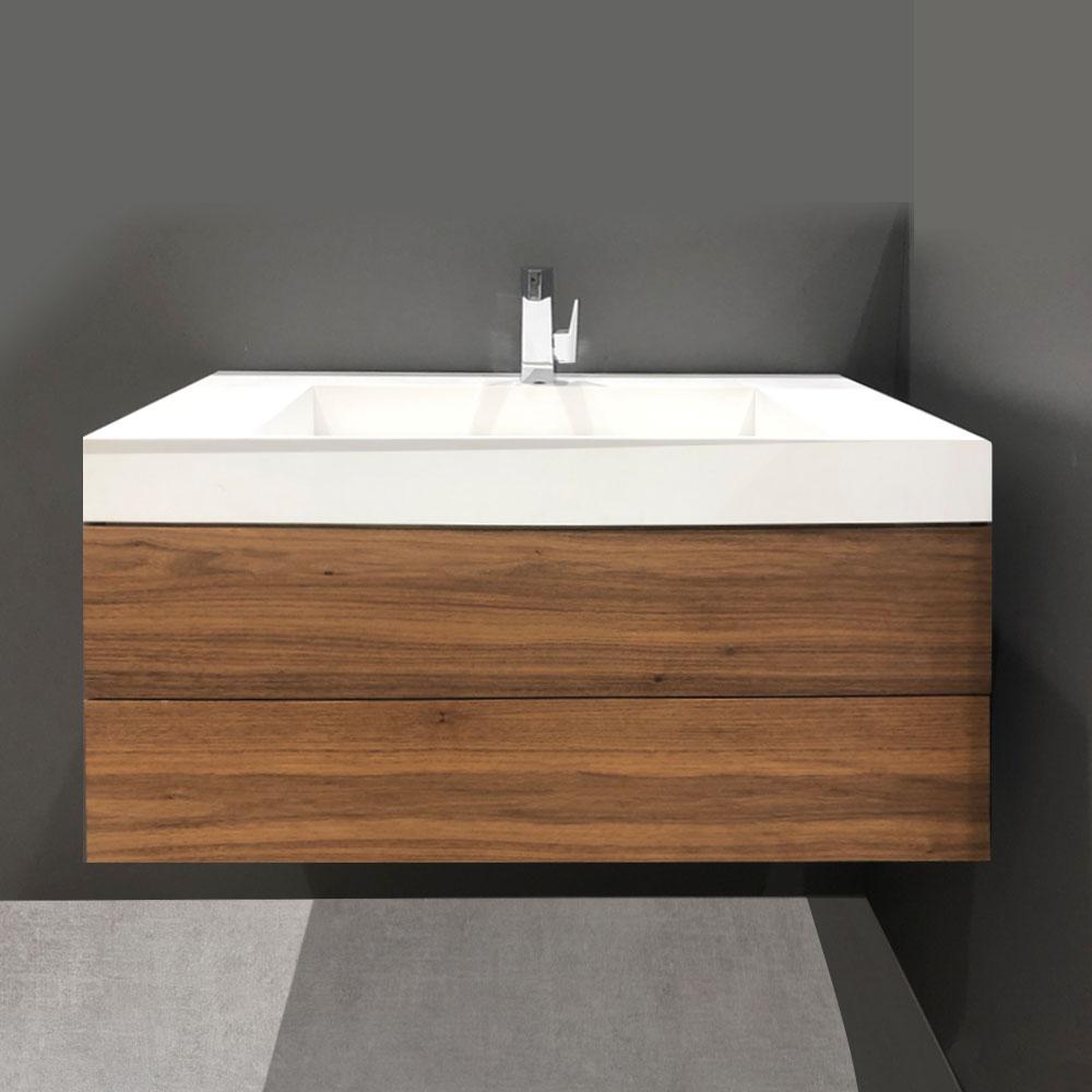 Dezign Market 36 Bath Vanity Mid Century Wall Mount Style Design