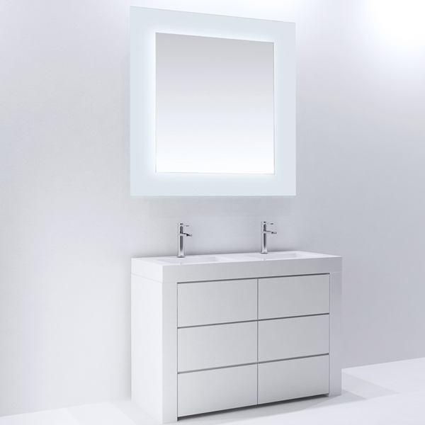 Frosted Edge Led Mirrors 29 36 48 52 60