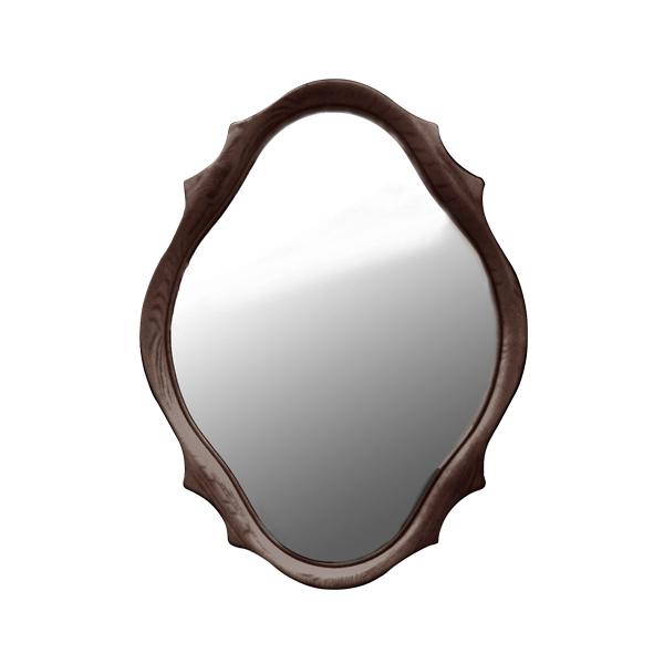 Wood Frame Ornate Curved Mirror US-45 | Dezign Market