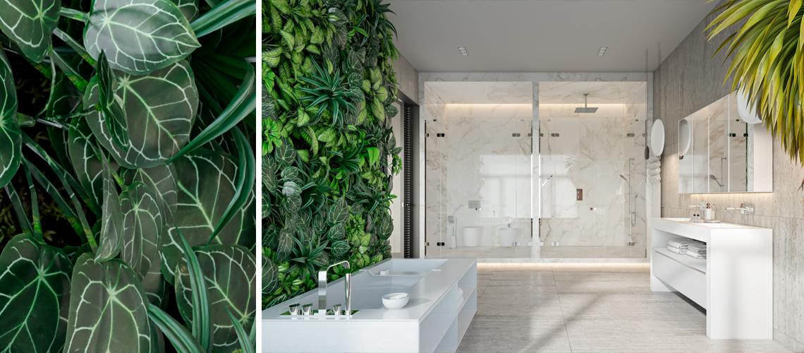 your very own vertical garden in the bathroom