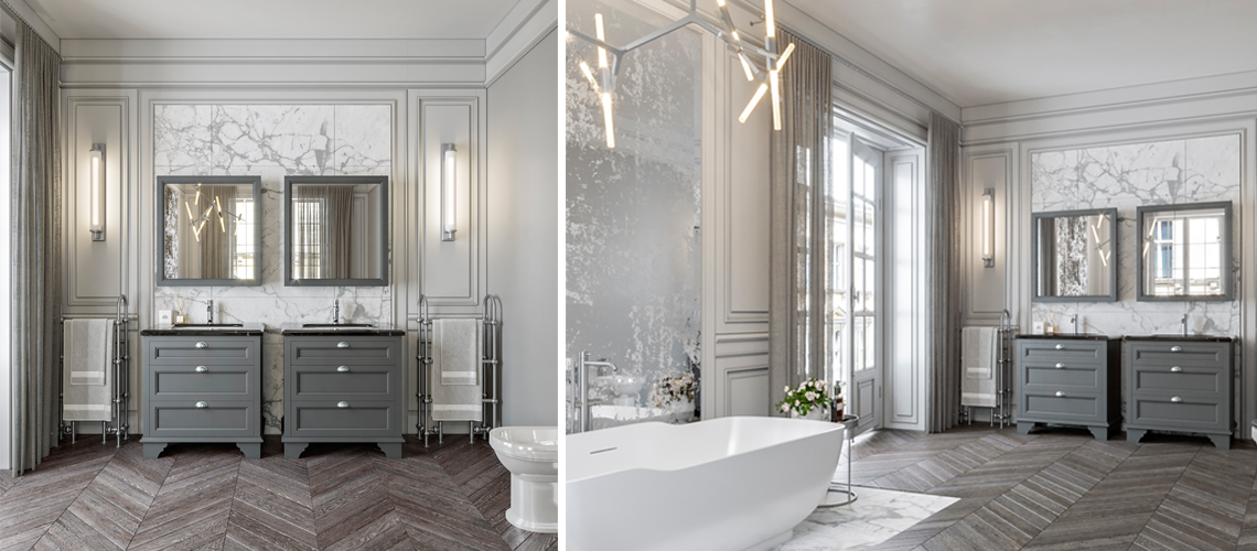 Modern Parisian style bathroom