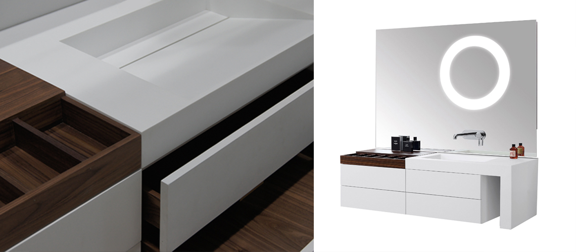 Single and Double Vanity with MINERALE